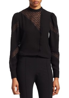 Valentino Lace Inset Blouse