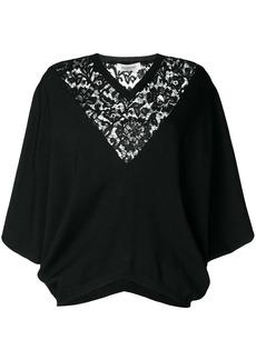 Valentino lace neckline top