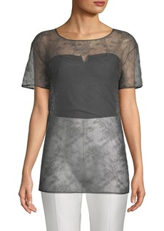 Valentino Lace Silk Top