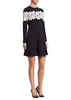 Valentino Lace Stripe Knit Dress