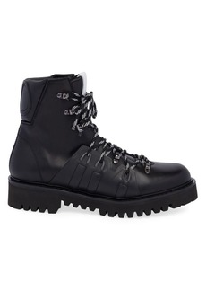 Valentino Garavani Lace-Up Leather Combat Boot