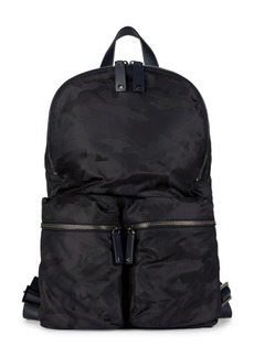 Valentino Largo Camo Leather-Trim Backpack