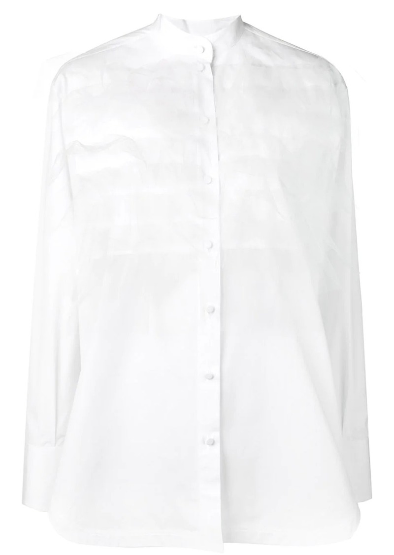 Valentino layered tulle shirt