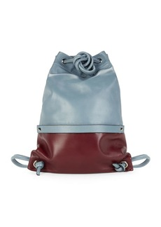 Valentino Leather Drawstring Backpack