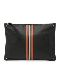 Valentino Leather Striped Clutch