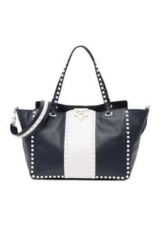 Valentino Leather Studded Tote