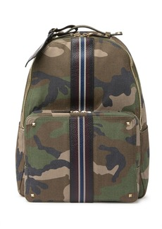 Valentino Leather Trimmed Camo Backpack