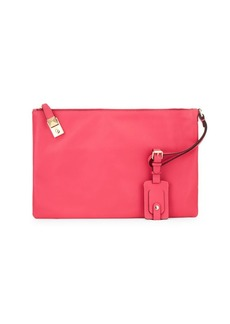 Valentino Leather Wristlet Pouch