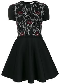 Valentino lips embroidered short dress