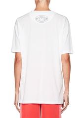 Valentino Lipstick-Print Crewneck Short-Sleeve Cotton T-Shirt