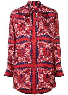 Valentino logo bandana print blouse