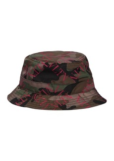 Valentino Logo Camouflage Nylon Bucket Hat
