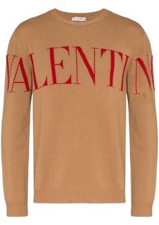 Valentino logo intarsia cashmere jumper