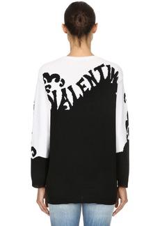 Valentino Logo Intarsia Cashmere Knit Sweater