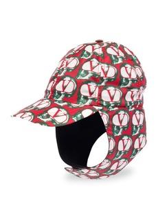 Valentino Garavani Logo Nylon Aviator Hat