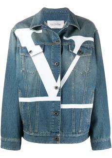 Valentino logo print denim jacket
