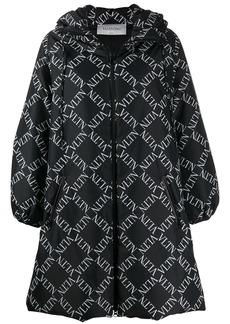 Valentino logo print padded coat