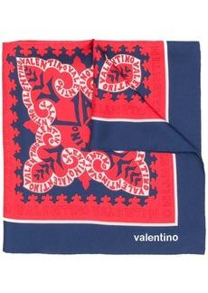 Valentino logo print scarf