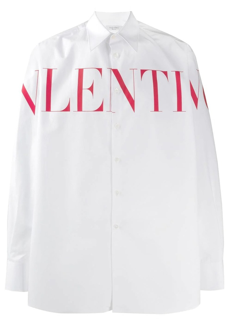 Valentino logo print shirt