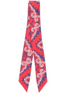 Valentino logo print skinny scarf