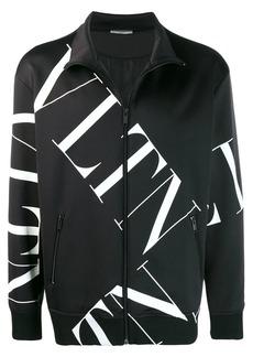 Valentino VLTN logo-print zipped sweatshirt