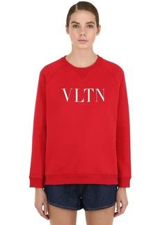 Valentino Logo Printed Cotton Sweatshirt