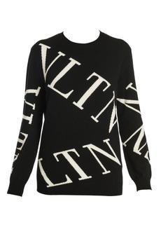 Valentino Logo Virgin Wool & Cashmere Crewneck Sweater