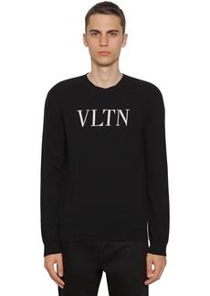 Valentino Logo Virgin Wool & Cashmere Knit Sweater