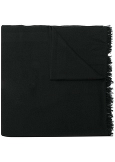 Valentino long raw edge scarf