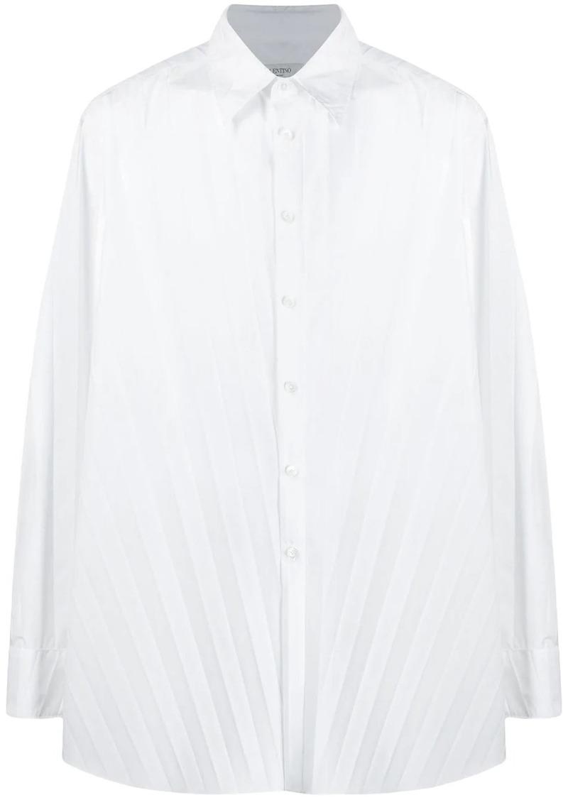 Valentino long-sleeve pleated shirt