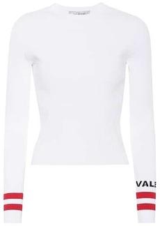 Valentino Long-sleeved rib-knit shirt