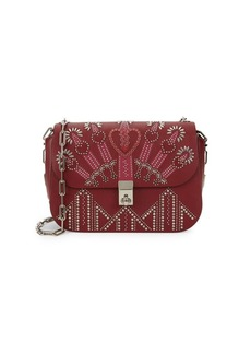 Valentino Love Blade Embroidered Leather Chain Shoulder Bag