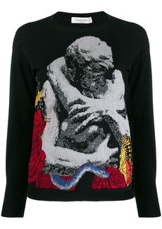 Valentino Lovers intarsia sweater
