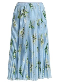 RED Valentino May Lilly Pleated Skirt