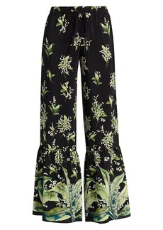 RED Valentino May Lilly Silk Pants