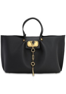 Valentino Md Vlogo Escape Grained Leather Tote Bag