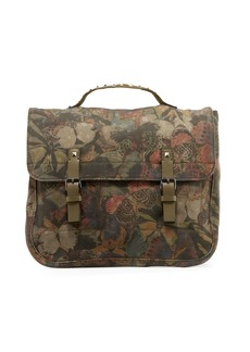 Valentino Men's Butterfly-Print Canvas Shoulder Bag