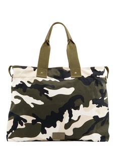 Valentino Men's Camo-Print Canvas Tote Bag