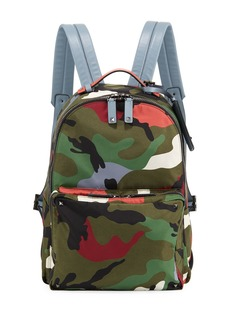 Valentino Men's Camo-Print Nylon Backpack Bag