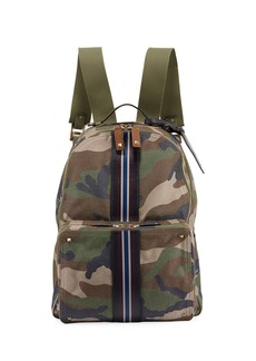 Valentino Men's Camo-Print Racing Stripe Backpack Bag