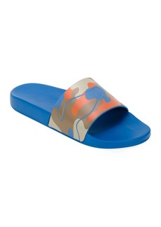 Valentino Men's Camo Slide Sandal  Orange Pattern