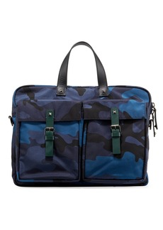 Valentino Men's Camouflage Canvas Briefcase