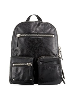 Valentino Men's Leather Dual Zip Backpack Bag