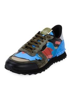 Valentino Men's Rockrunner Camo Trainer Sneakers