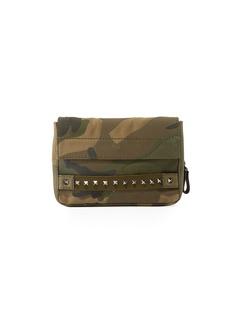 Valentino Men's Rockstud Camouflage Clutch