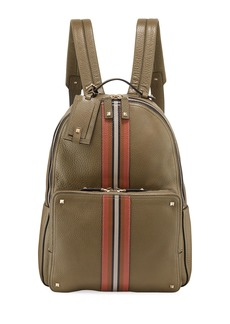 Valentino Men's Rockstud Striped Leather Backpack Bag