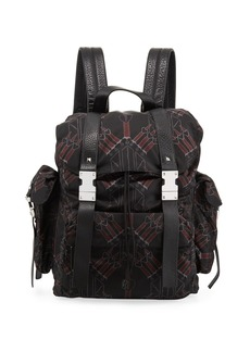 Valentino Men's Sword & Heart Nylon Backpack