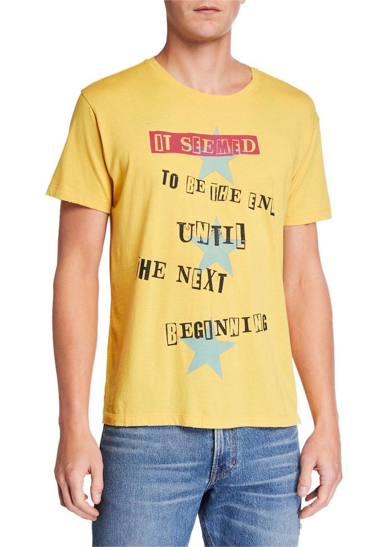 Valentino Men's The Next Beginning Quote Cotton T-Shirt