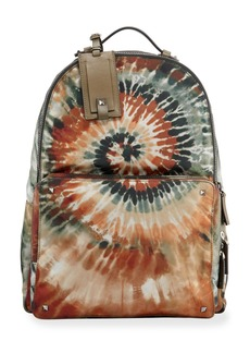 Valentino Men's Tie-Dyed Nylon Backpack Bag