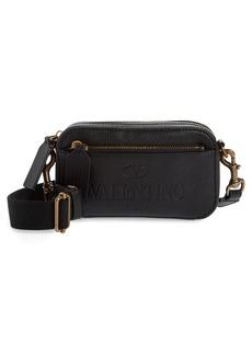 Men's Valentino Garavani Small Leather Waist Satchel - Black